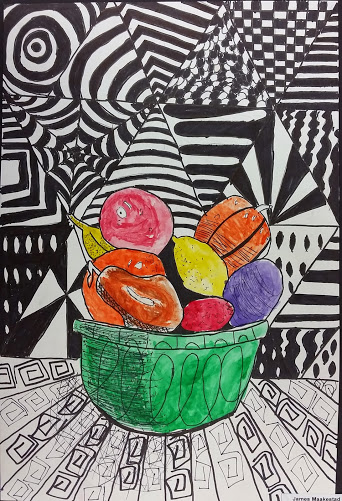 Fruit Bowl Zentangle A Painted Perspective